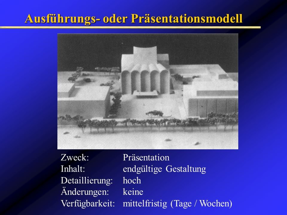 Ausführungs- oder Präsentationsmodell