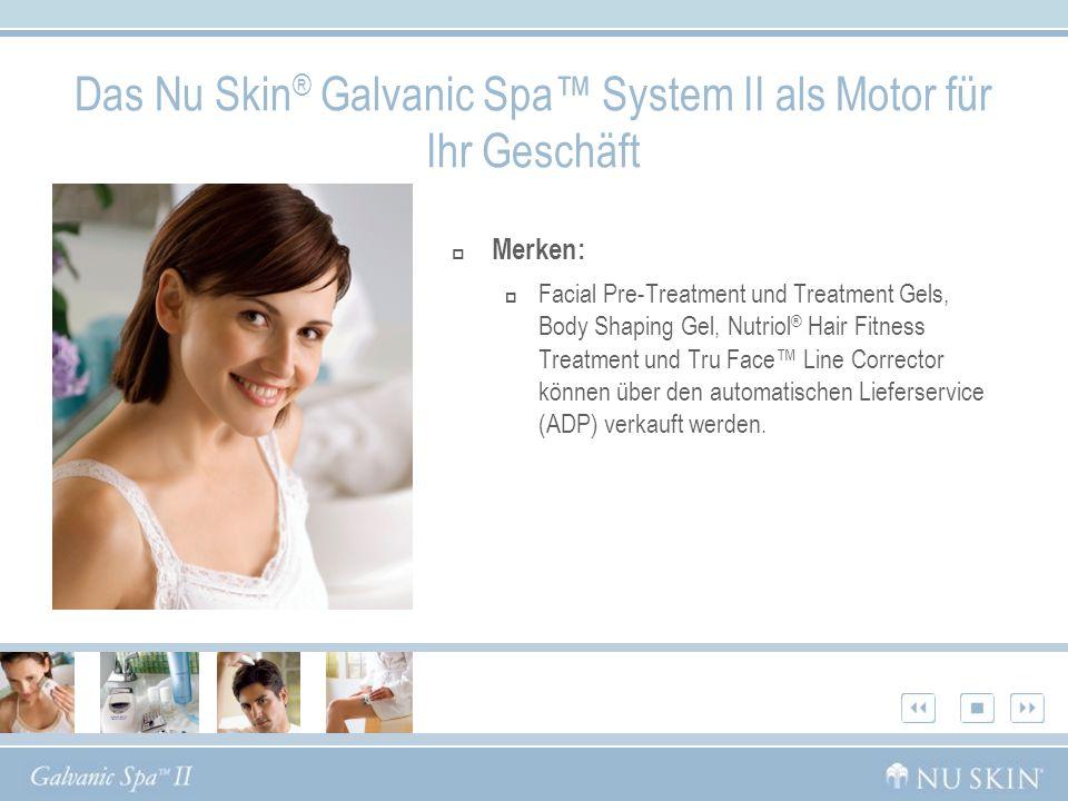 Das Nu Skin® Galvanic Spa™ System II als Motor für Ihr Geschäft