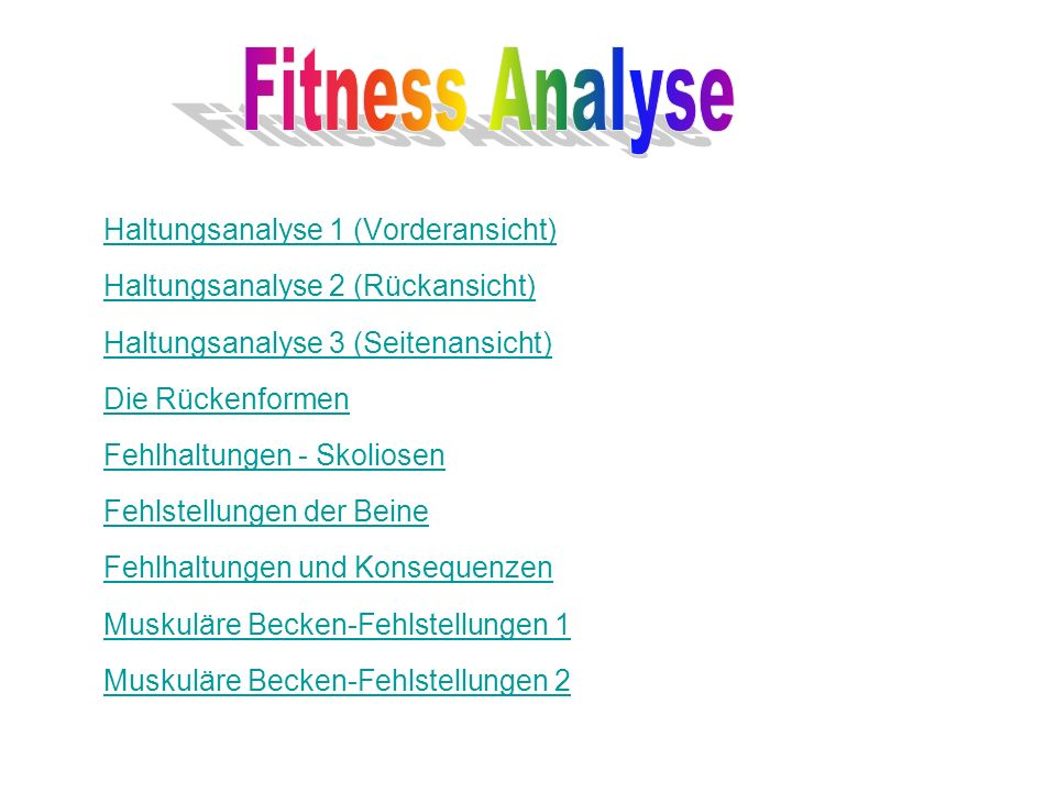 Fitness Analyse
