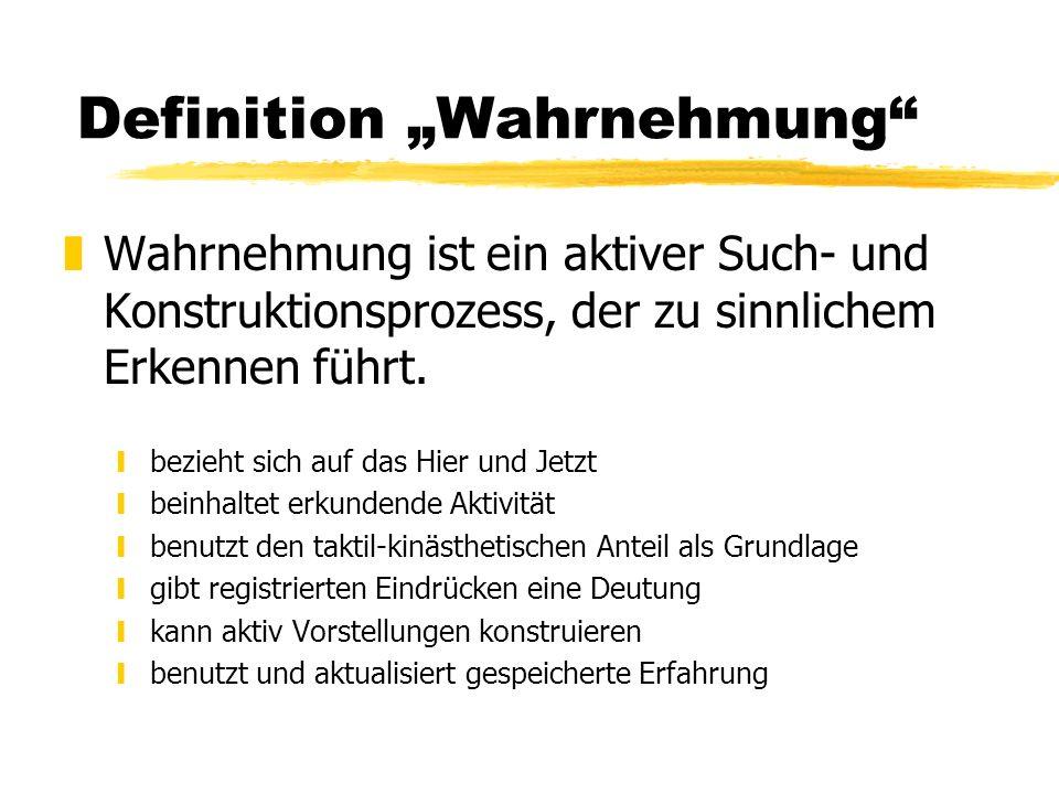 "Definition ""Wahrnehmung"