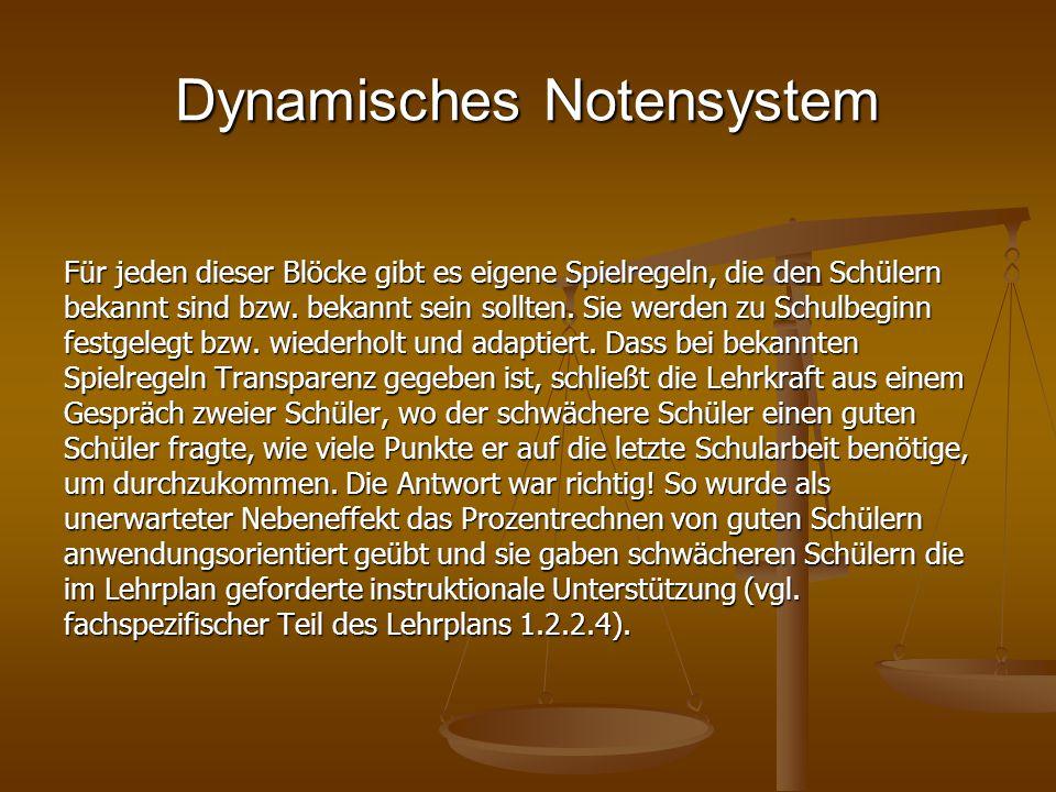 Dynamisches Notensystem