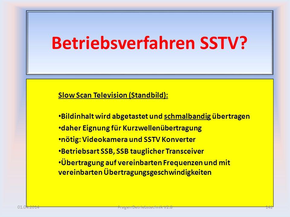 Betriebsverfahren SSTV