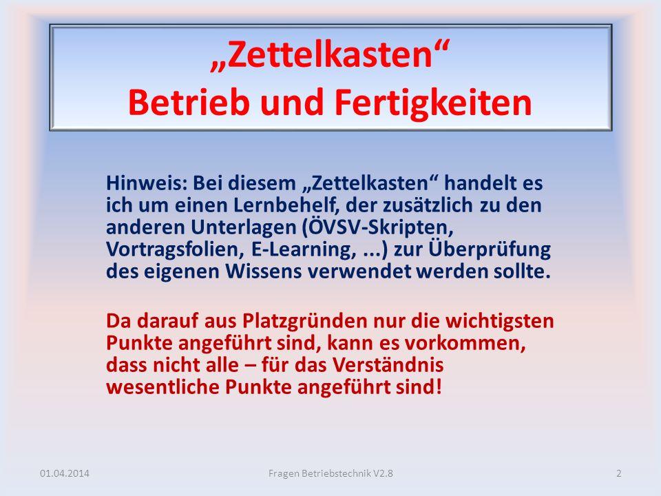 """""""Zettelkasten Betrieb und Fertigkeiten"""