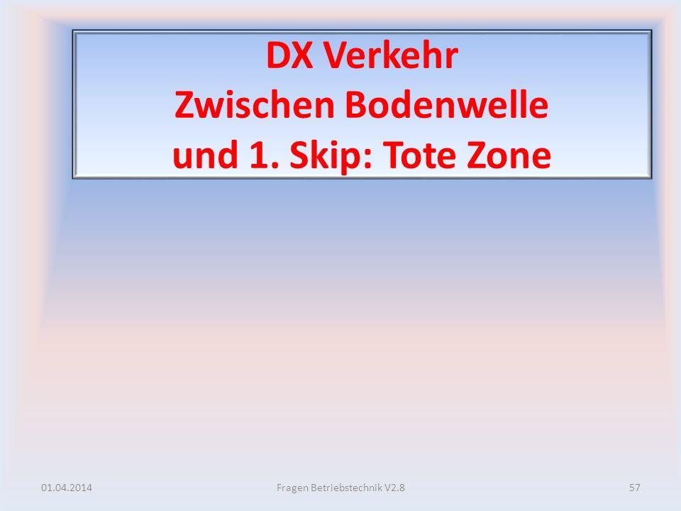 DX Verkehr Zwischen Bodenwelle und 1. Skip: Tote Zone