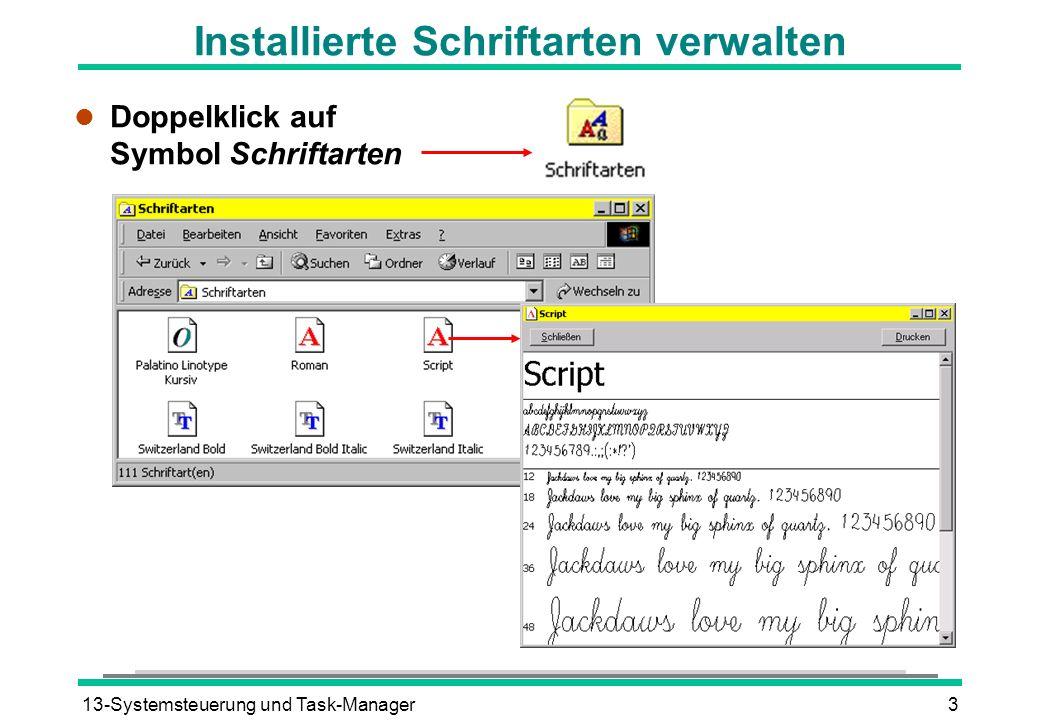 Installierte Schriftarten verwalten
