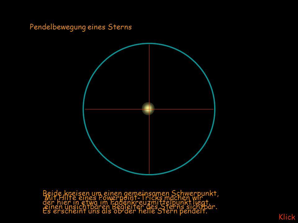 Pendelbewegung eines Sterns
