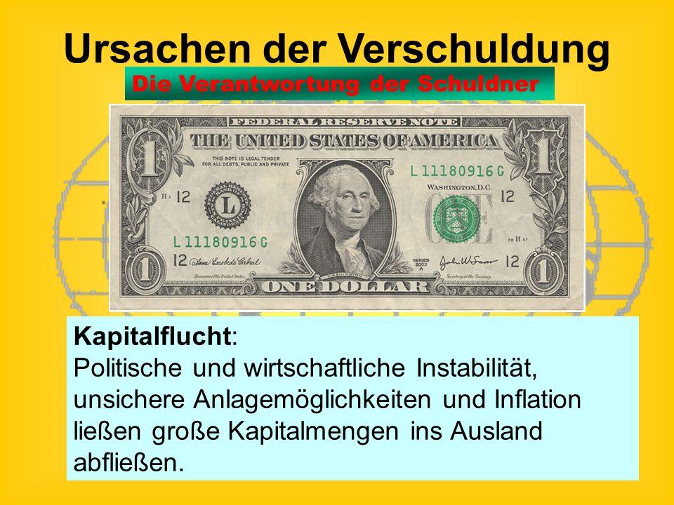 Ursachen der Verschuldung