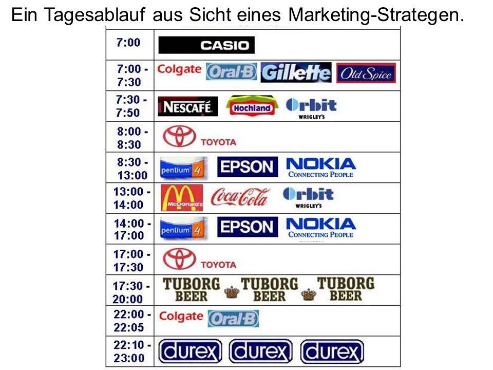 Ein Tagesablauf aus Sicht eines Marketing-Strategen.