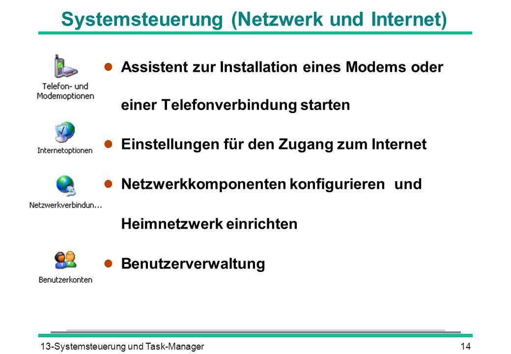 Systemsteuerung (Netzwerk und Internet)