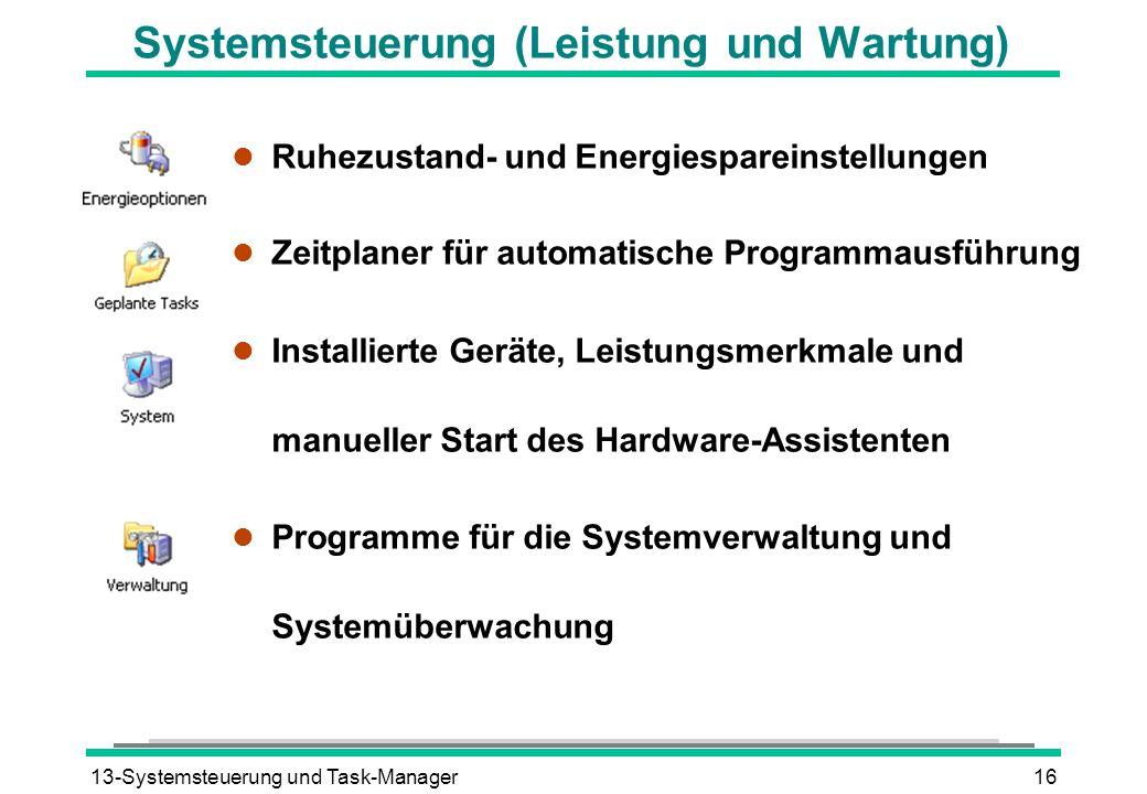 Systemsteuerung (Leistung und Wartung)