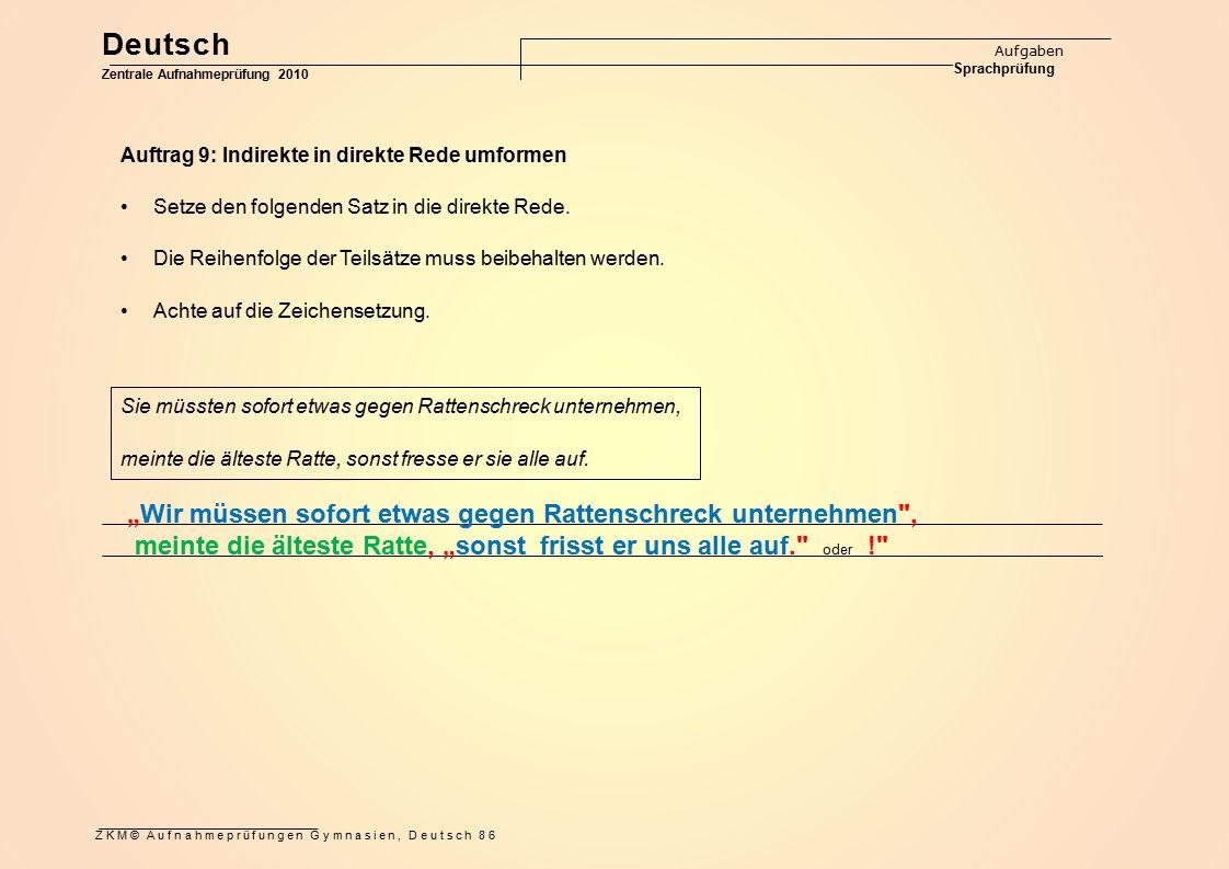 """Deutsch """"Wir müssen sofort etwas gegen Rattenschreck unternehmen ,"""