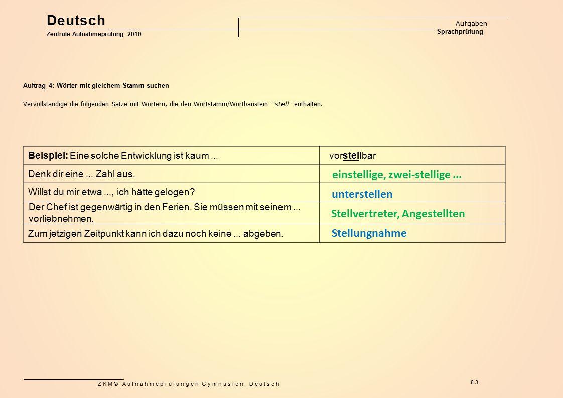Deutsch einstellige, zwei-stellige ... unterstellen