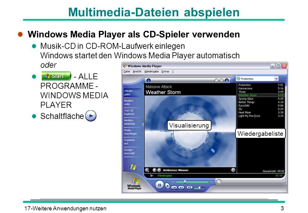 Multimedia-Dateien abspielen