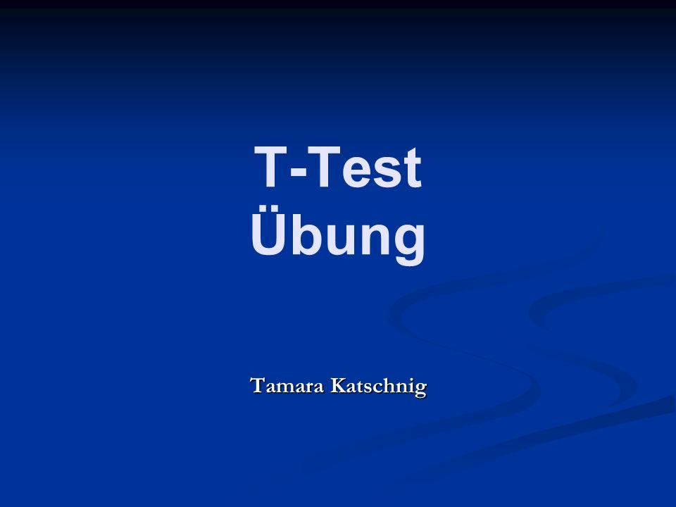 T-Test Übung Tamara Katschnig