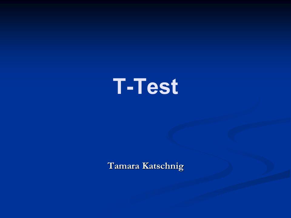 T-Test Tamara Katschnig