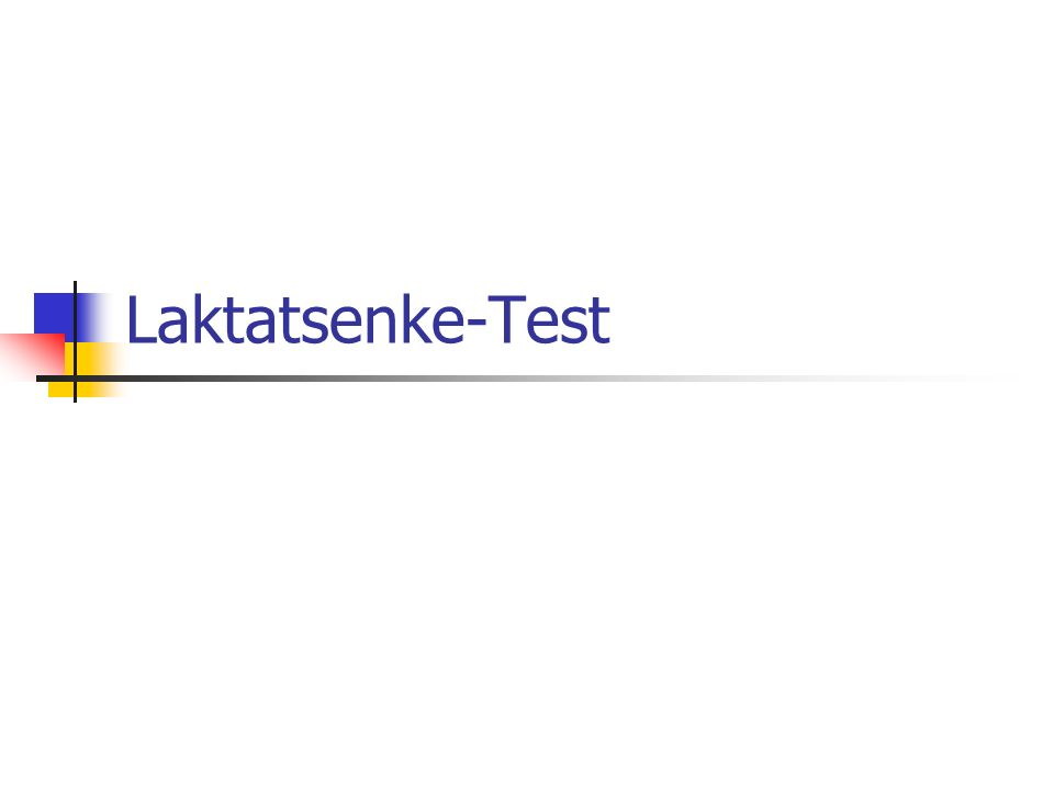 Laktatsenke-Test