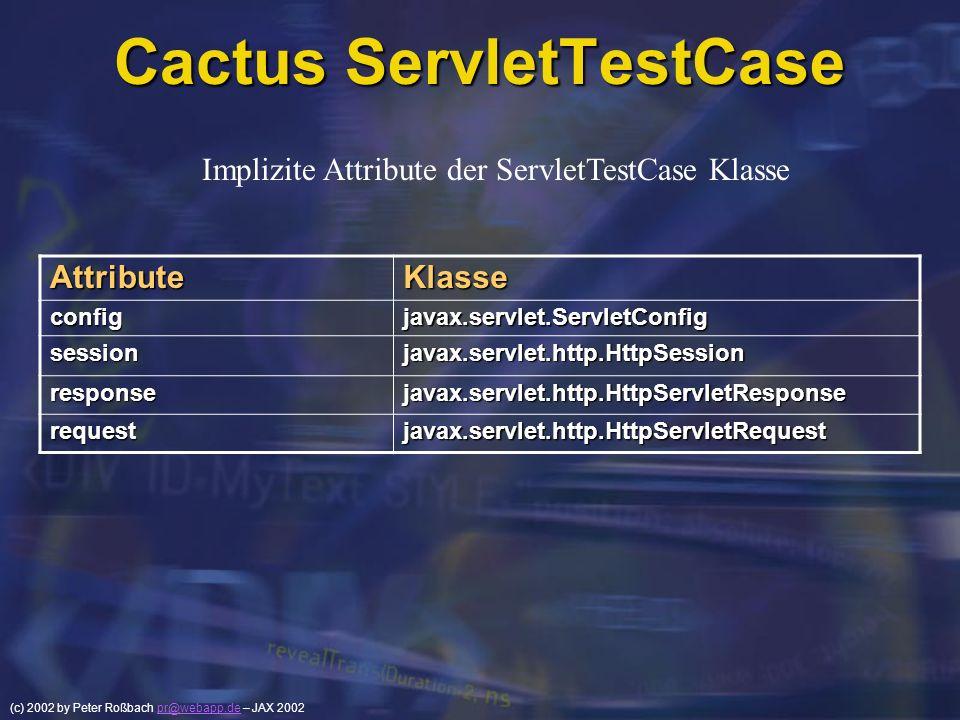 Cactus ServletTestCase
