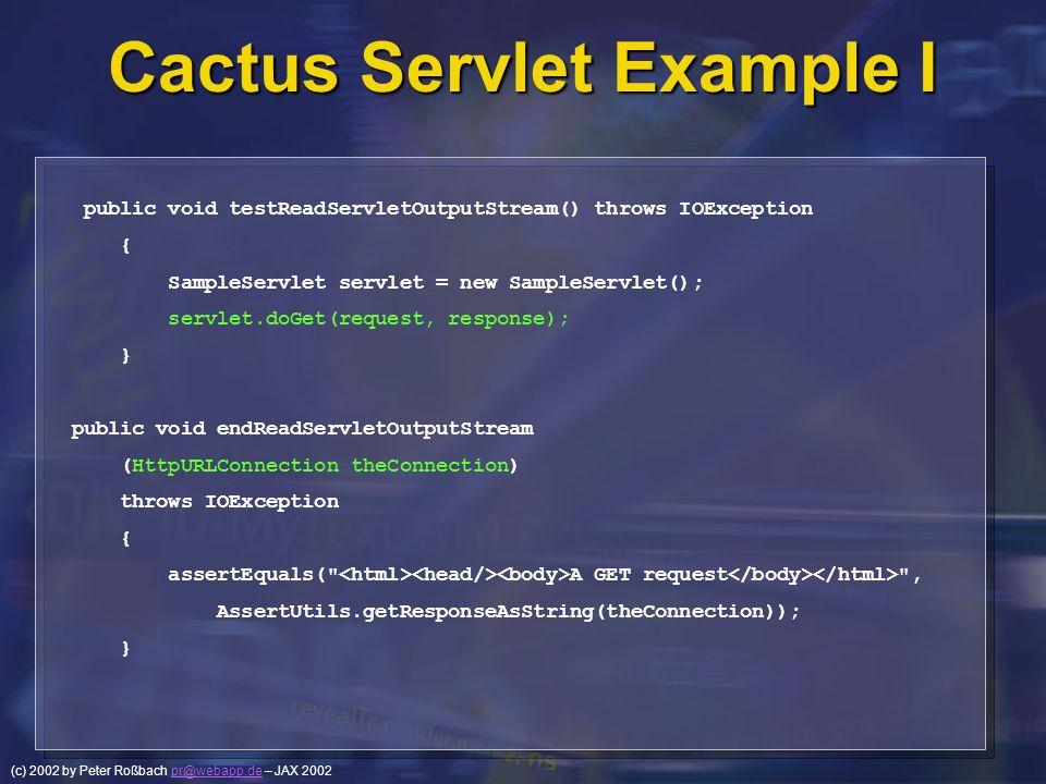 Cactus Servlet Example I