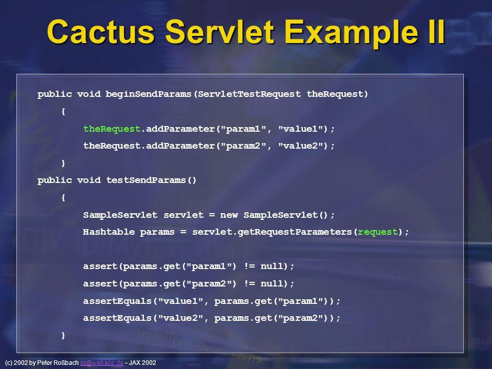 Cactus Servlet Example II