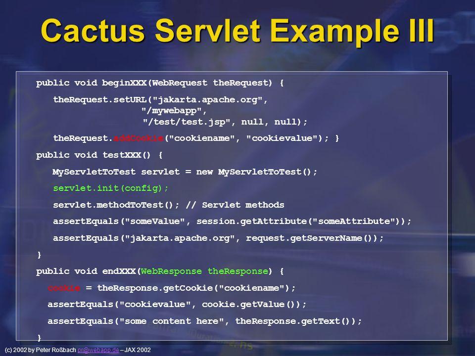 Cactus Servlet Example III
