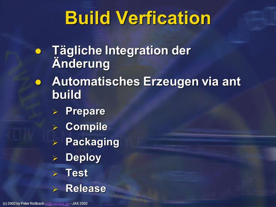 Build Verfication Tägliche Integration der Änderung