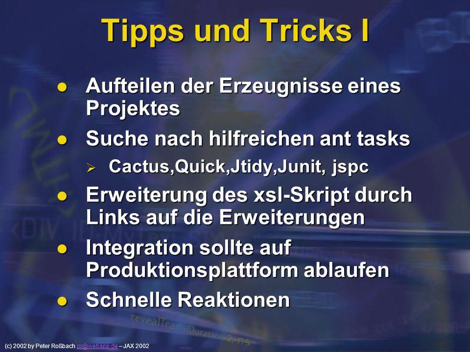 Tipps und Tricks I Aufteilen der Erzeugnisse eines Projektes