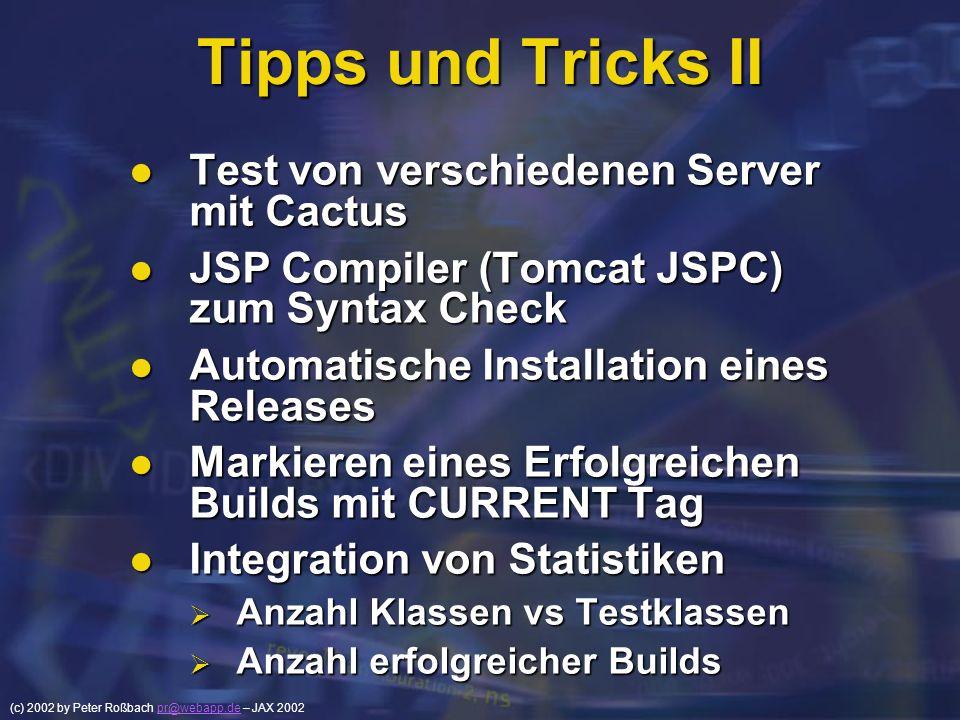 Tipps und Tricks II Test von verschiedenen Server mit Cactus