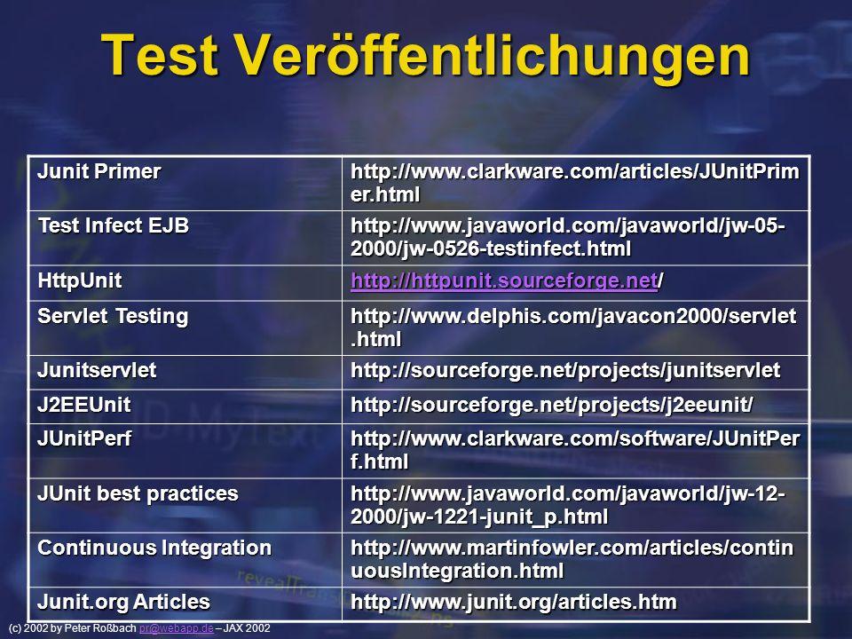 Test Veröffentlichungen
