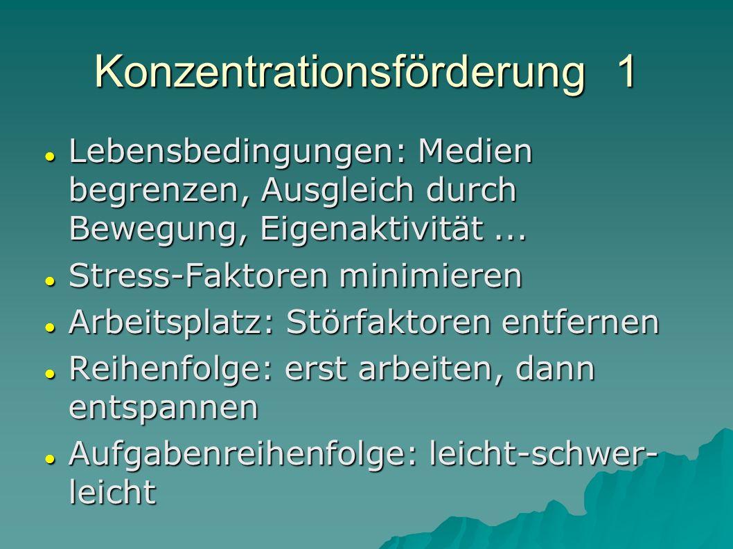 Konzentrationsförderung 1