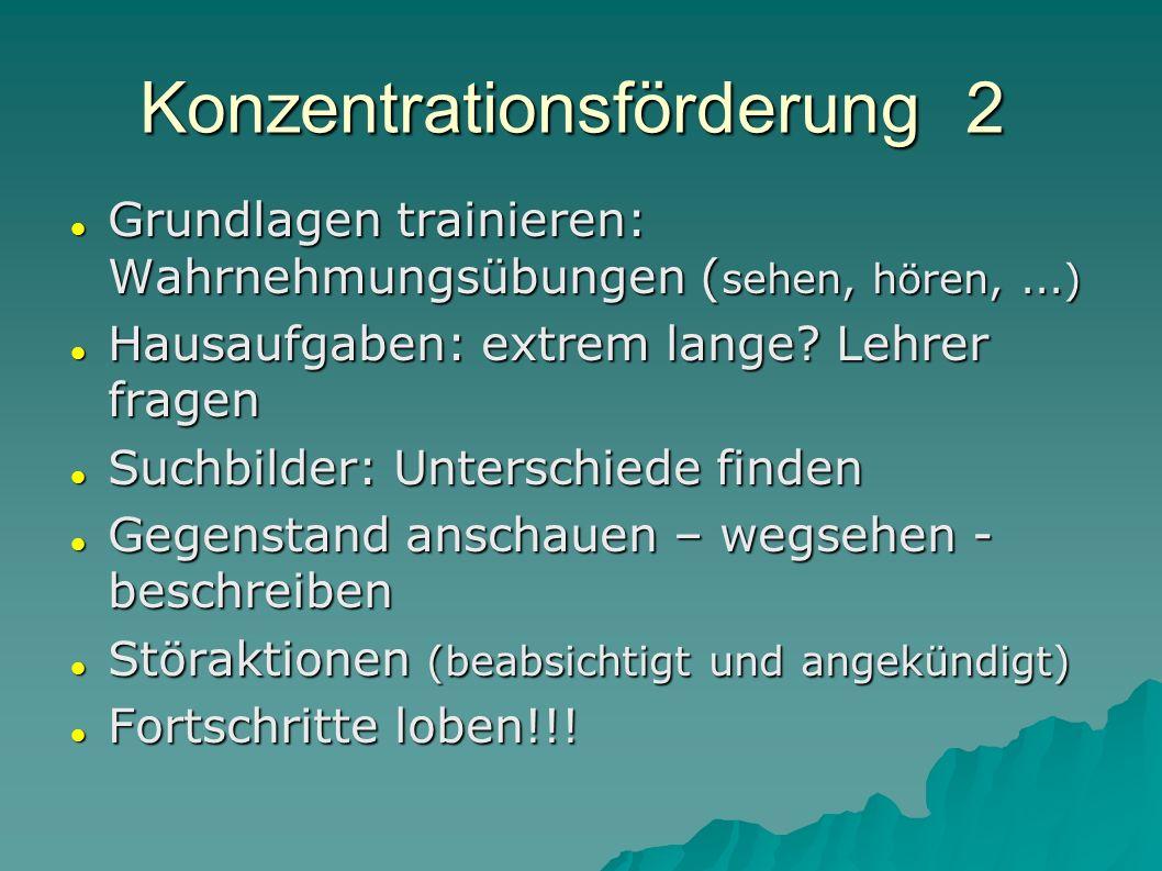 Konzentrationsförderung 2