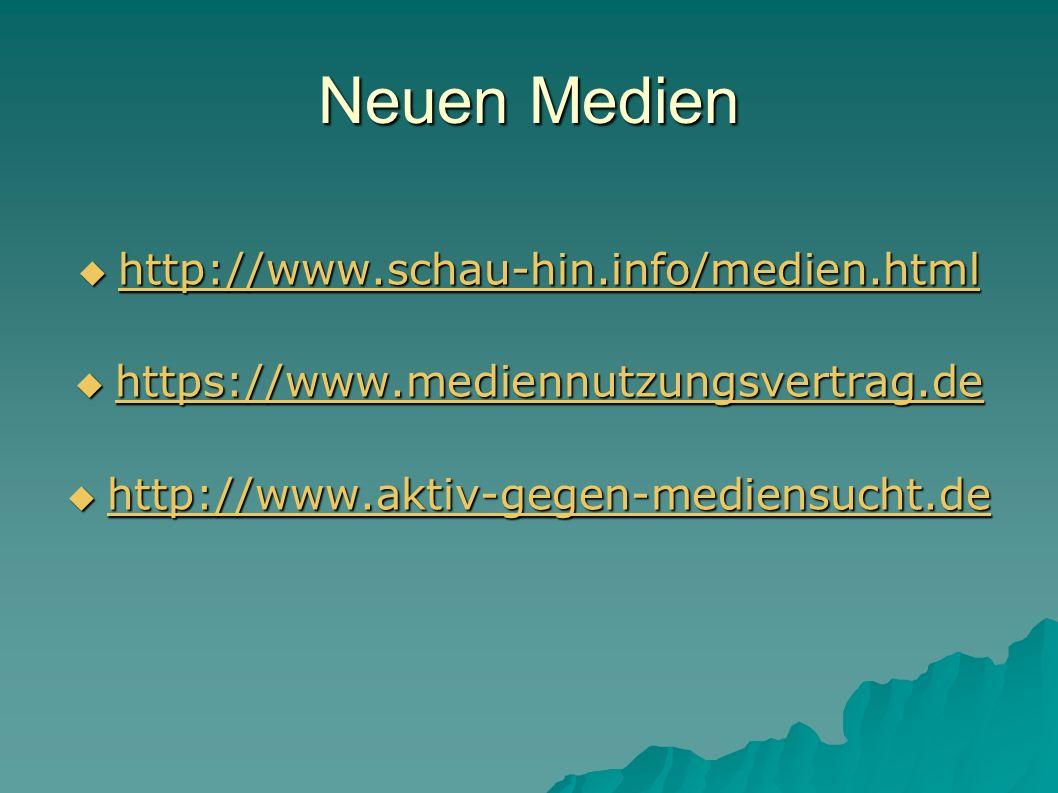 Neuen Medien http://www.schau-hin.info/medien.html