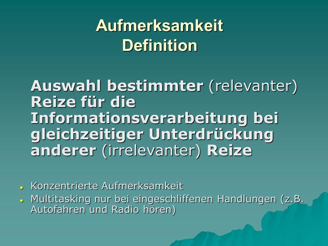 Aufmerksamkeit Definition