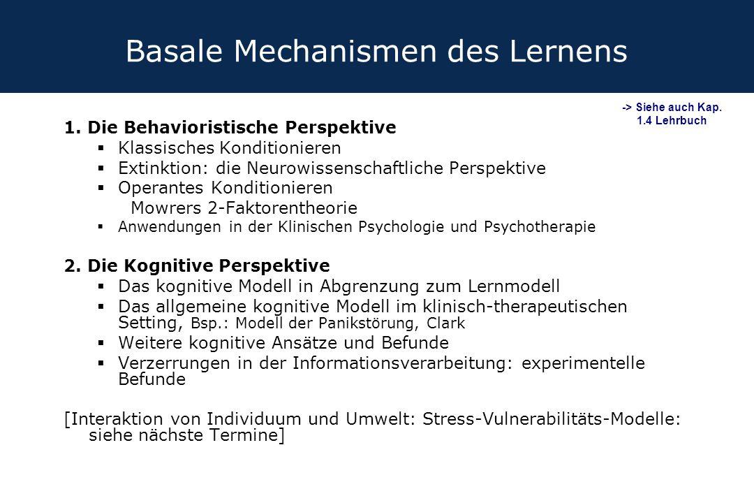 Basale Mechanismen des Lernens