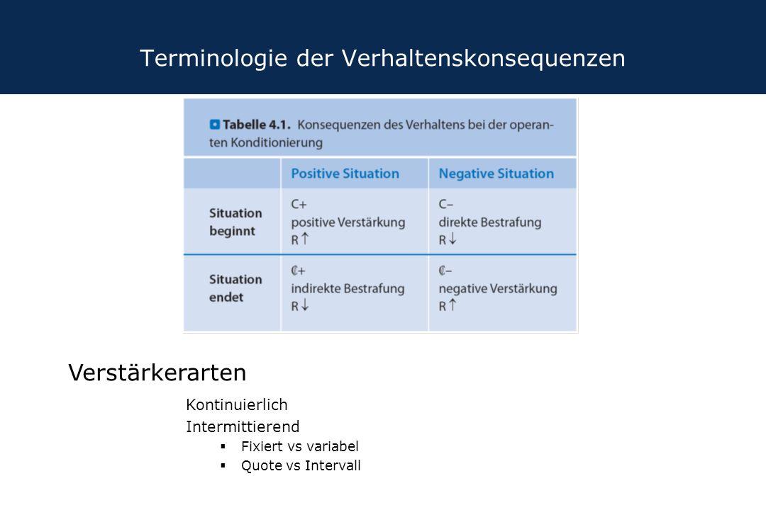 Terminologie der Verhaltenskonsequenzen