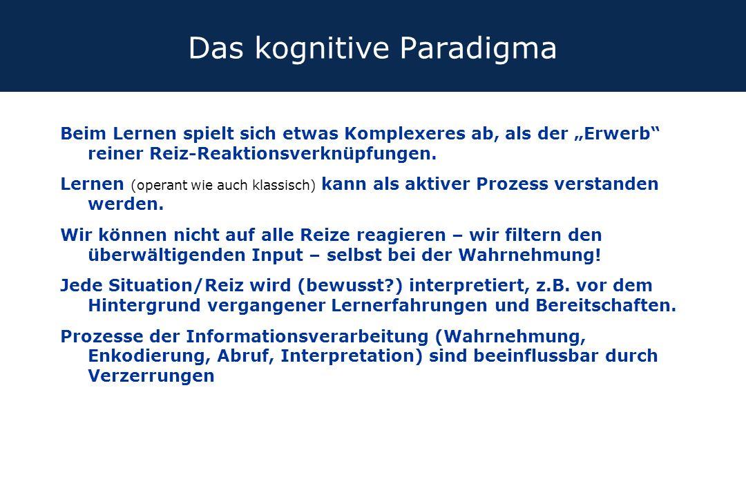 Das kognitive Paradigma