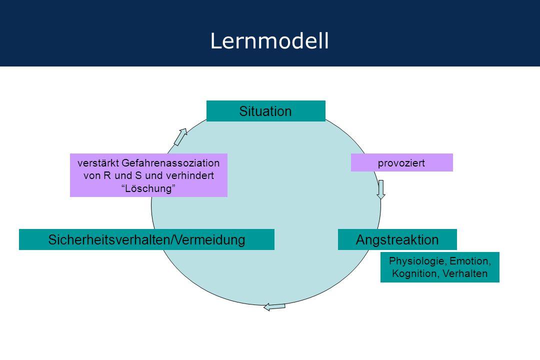Lernmodell Situation Sicherheitsverhalten/Vermeidung Angstreaktion