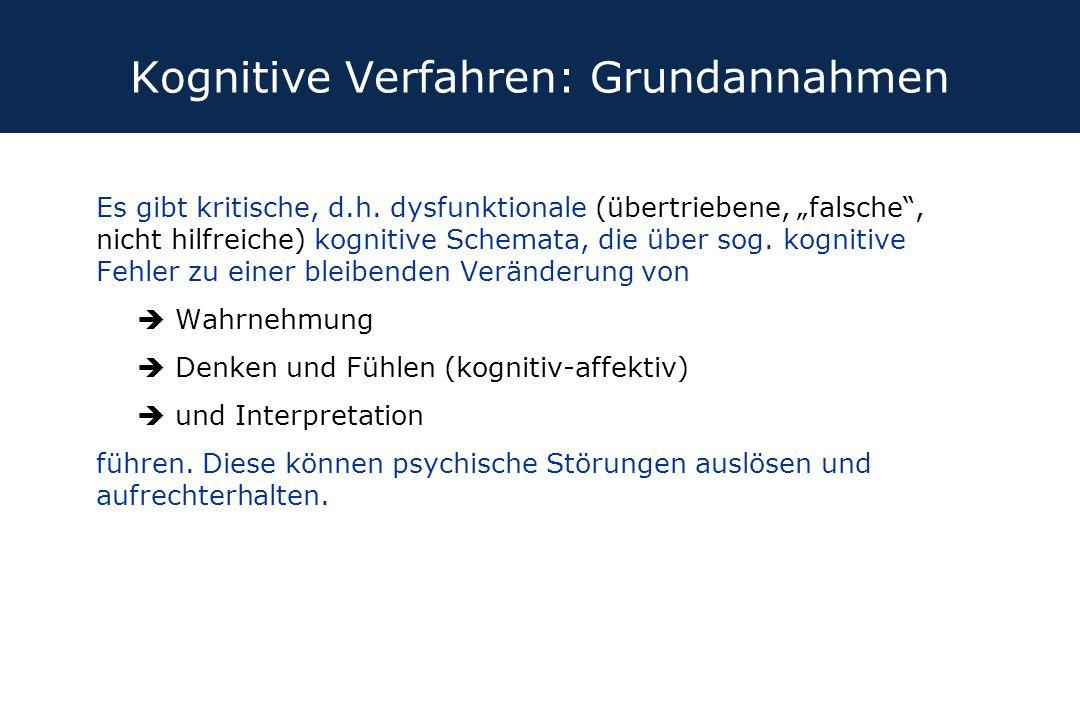 Kognitive Verfahren: Grundannahmen
