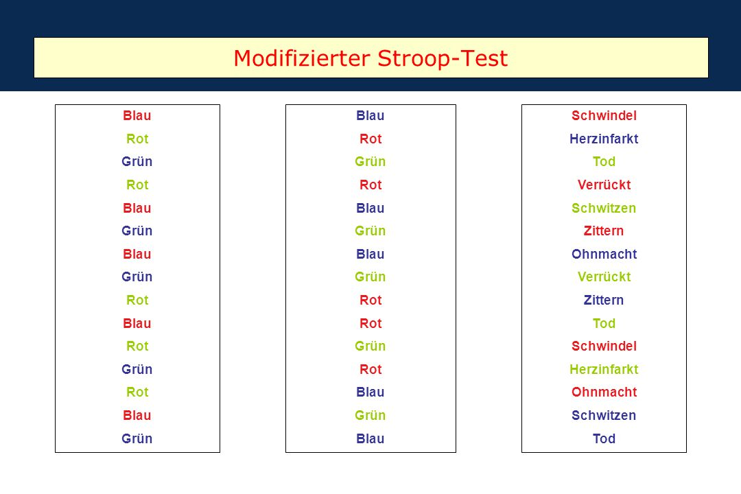 Modifizierter Stroop-Test