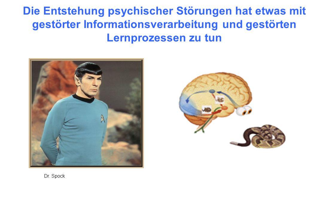 Die Entstehung psychischer Störungen hat etwas mit gestörter Informationsverarbeitung und gestörten Lernprozessen zu tun