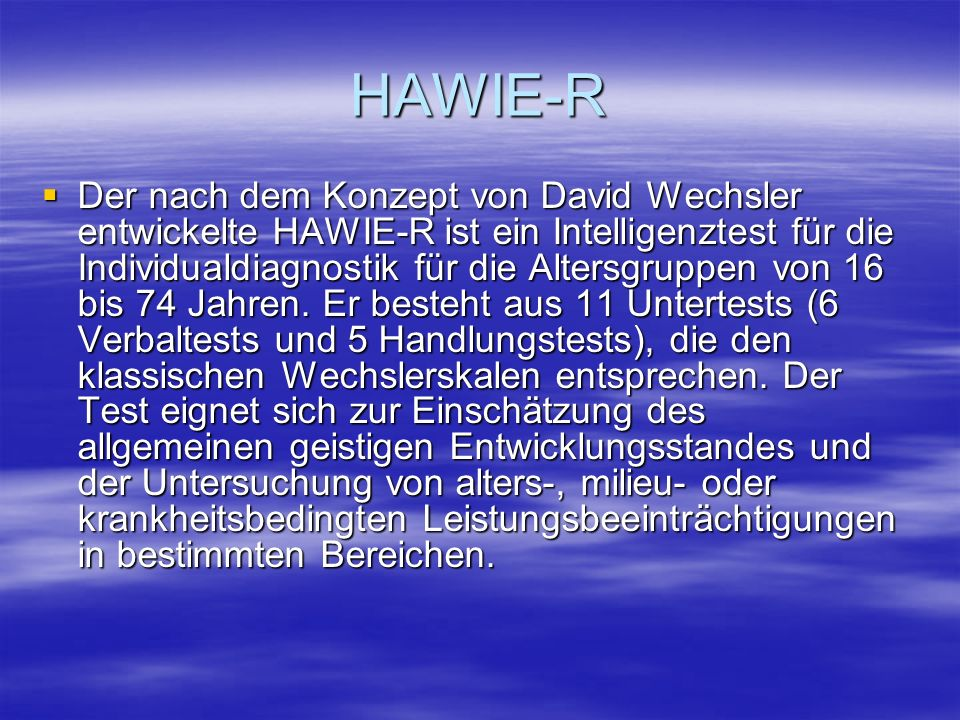 HAWIE-R