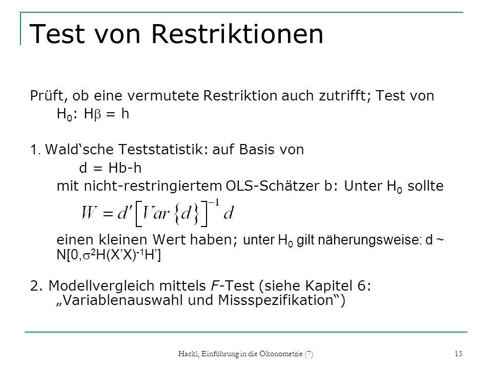 Test von Restriktionen