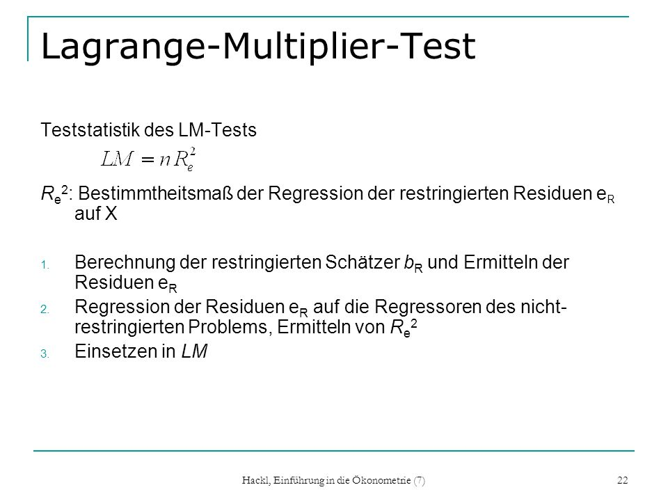Lagrange-Multiplier-Test