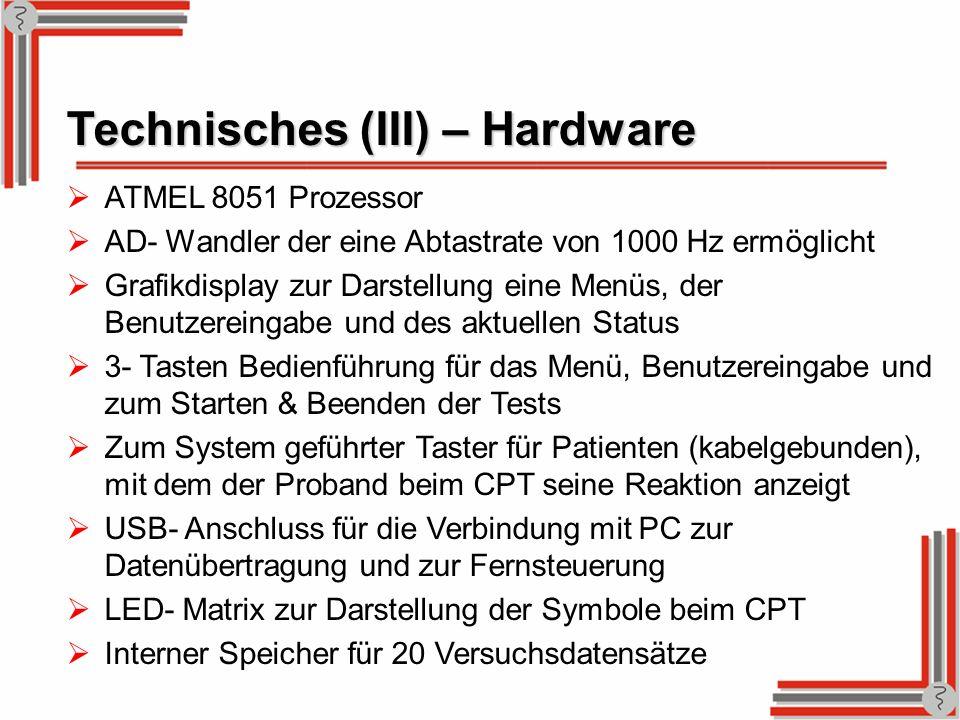Technisches (III) – Hardware
