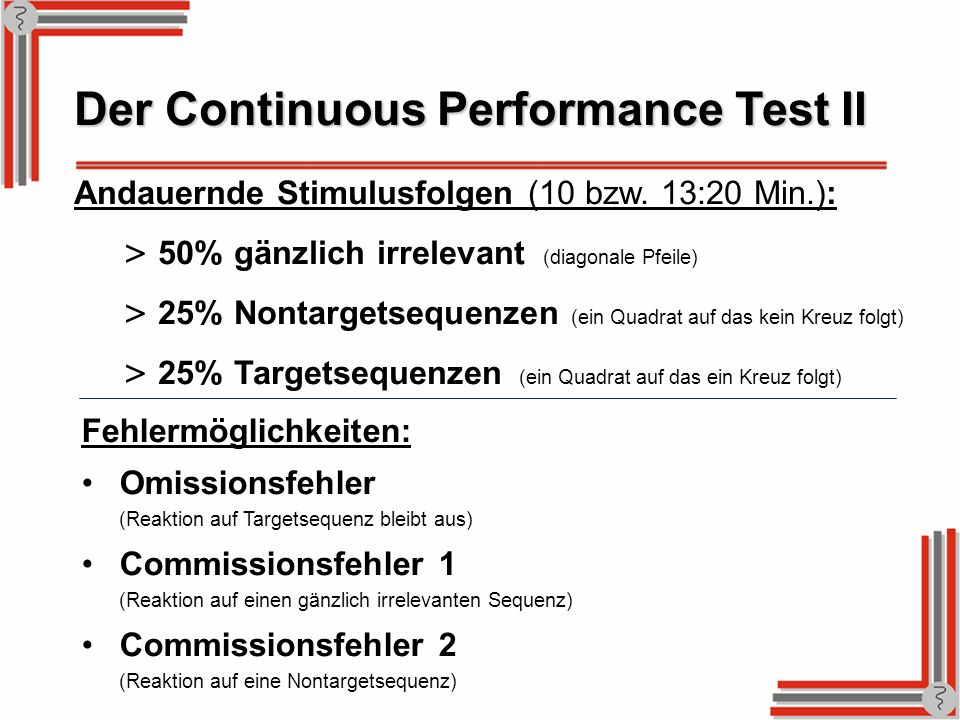 Der Continuous Performance Test II