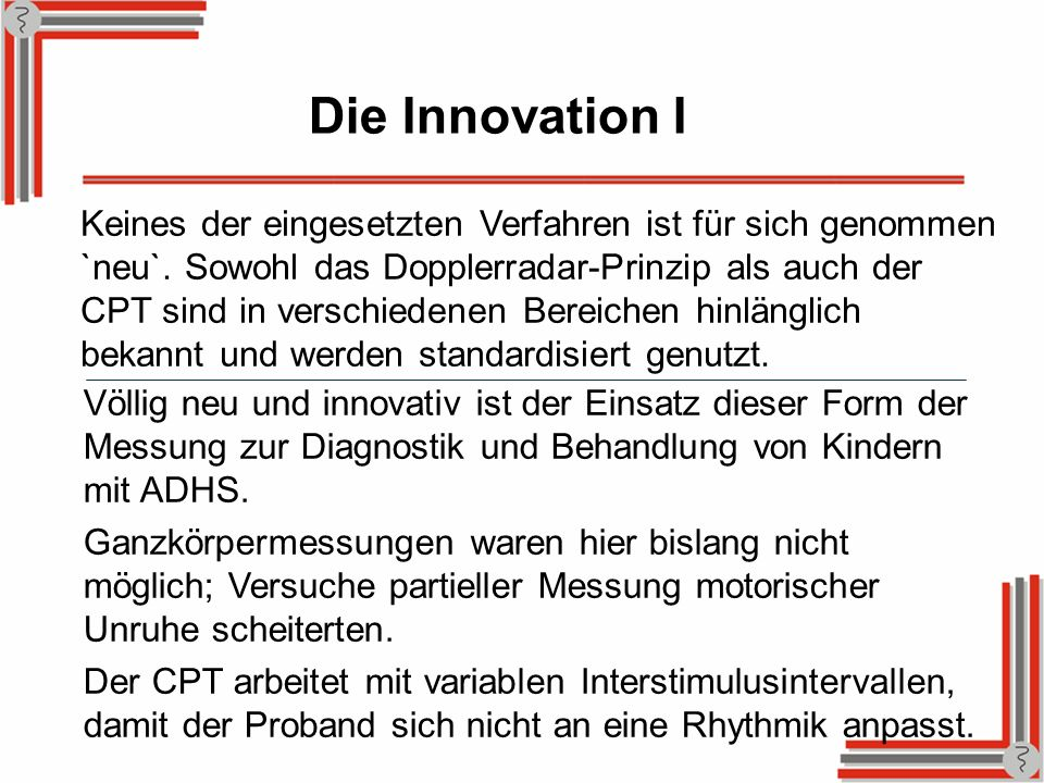Die Innovation I