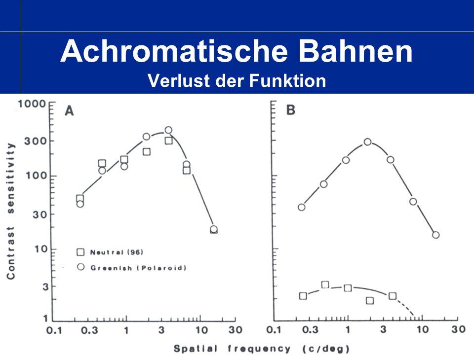 Achromatische Bahnen Verlust der Funktion