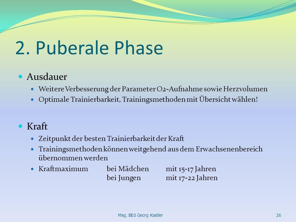 2. Puberale Phase Ausdauer Kraft