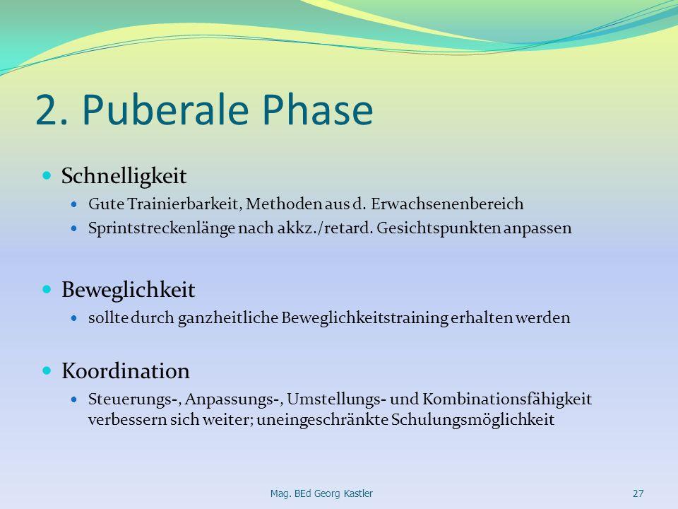 2. Puberale Phase Schnelligkeit Beweglichkeit Koordination