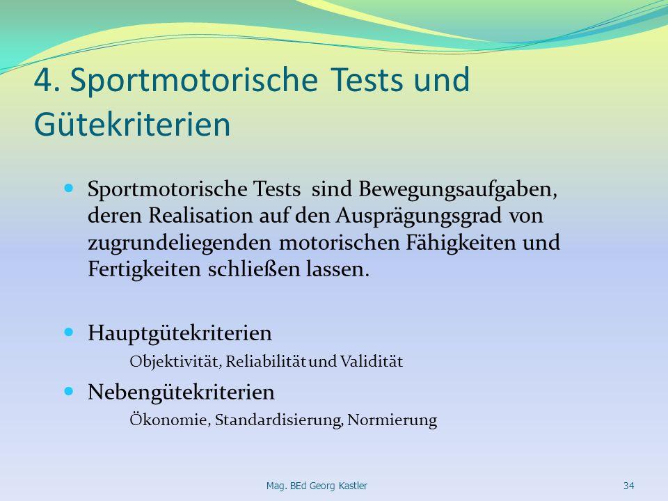 4. Sportmotorische Tests und Gütekriterien