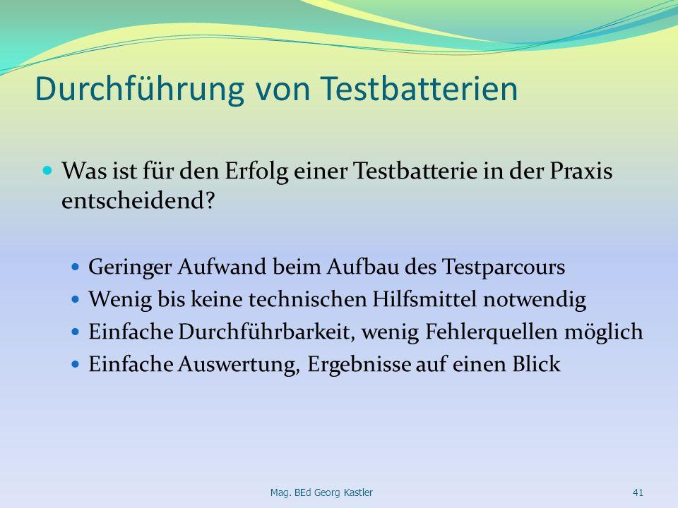 Durchführung von Testbatterien